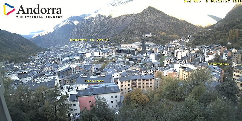 WEBCAMS ANDORRA | WEBCAMS ANDORRE → Webcams Pas de la Casa Grandvalira → Webcam Pas de la Casa (Pistes) → Webcam Grau-Roig (Pistes) → Webcam Pas de la Casa (Frontera) → Webcams Soldeu El Tarter Grandvalira → Webcam El Tarter (Pi de Migdia) → Webcam Soldeu (Espiolets) → Webcam Canillo (El Forn) → Webcam Encamp (Els Cortals) → Webcams Pal Arinsal Vallnord → Webcam Pal (La Caubella) → Webcam Pal (Pla de la Cot) → Webcam Arinsal Comallemple) → Webcams Arcalís Vallnord → Webcam Arcalis Vallnord → Webcam El Serrat → Webcams Naturlandia → Webcam Naturlandia Tobotronc → Webcam Col du Puymorens → Webcam Escaldes-Engordany 1 → Webcam Escaldes-Engordany 2 → Webcams Ordino 1 → Webcams Ordino 2 → LiveCam Ordino → Webcams Sant Julià de Lòria 1 → Webcams Sant Julià de Lòria 2 → Webcam Ax-les-Thermes → Webcam La Seu d'Urgell → 32 Webcams agencia de Mobilitat WEBCAMS ANDORRA | WEBCAMS ANDORRE Webcams Andorra para moviles Webcams Andorre pour smartphones WEBCAMS PIRINEOS | WEBCAMS PYRÉNÉES → Webcams Formigal → Webcams Pic du Midi → Webcams Gavarnie → Webcams Les Angles → Webcams Font-Romeu → Webcams La Mongie - Grand Tourmalet → Webcams Barèges - Pic du Midi → Webcams Candanchú → Webcams La Molina → Webcams Vall de Núria WEBCAMS COSTA | WEBCAMS CÔTE → Webcams Empuriabrava → Webcam Calella de Palafrugell → Webcams Barcelona (Port Olímpic) → Webcams Cambrils